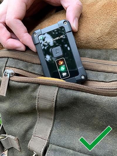 GPS Empfang Rucksack
